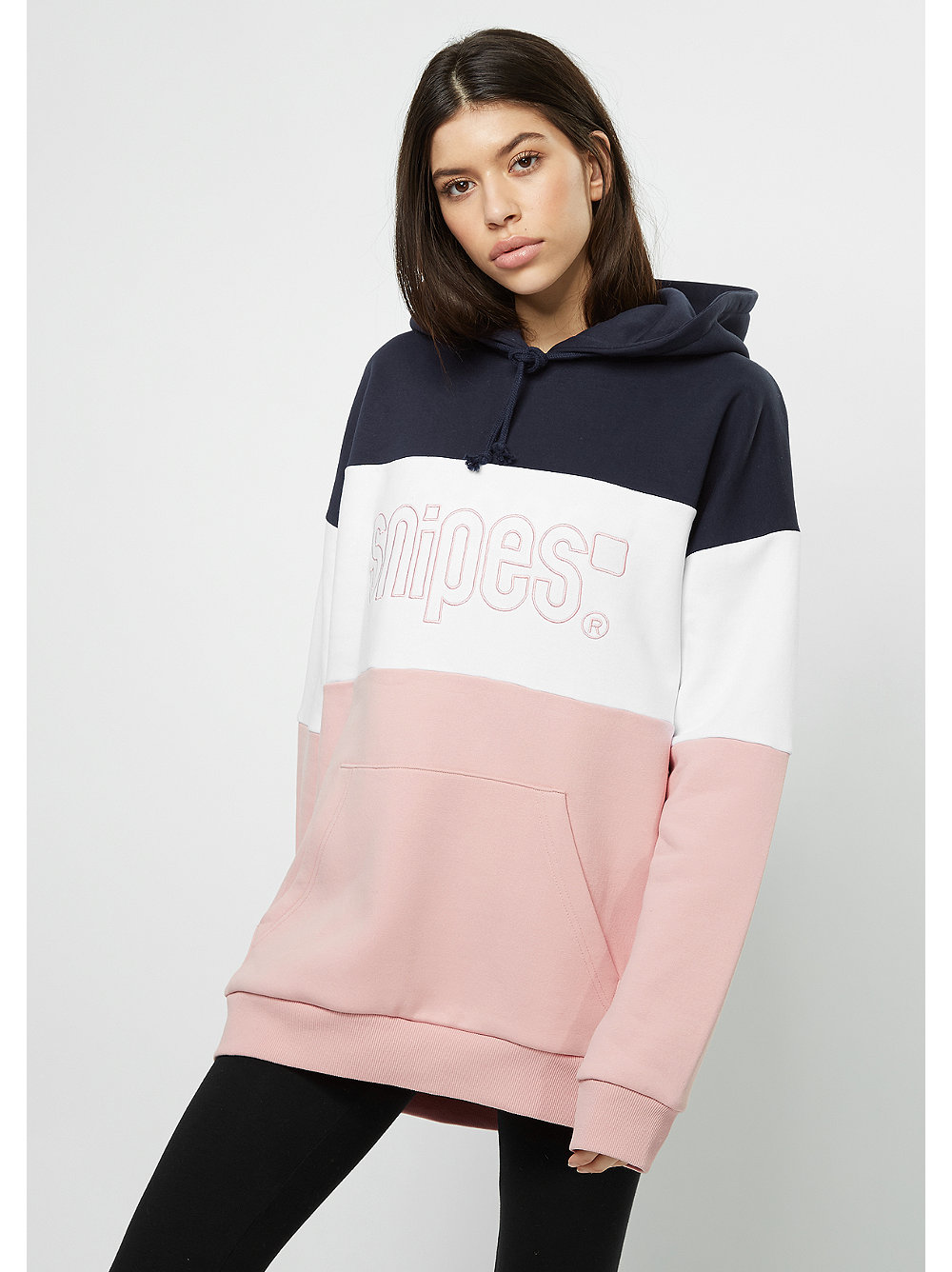snipes hooded sweatshirt oversized silver pink snipes. Black Bedroom Furniture Sets. Home Design Ideas