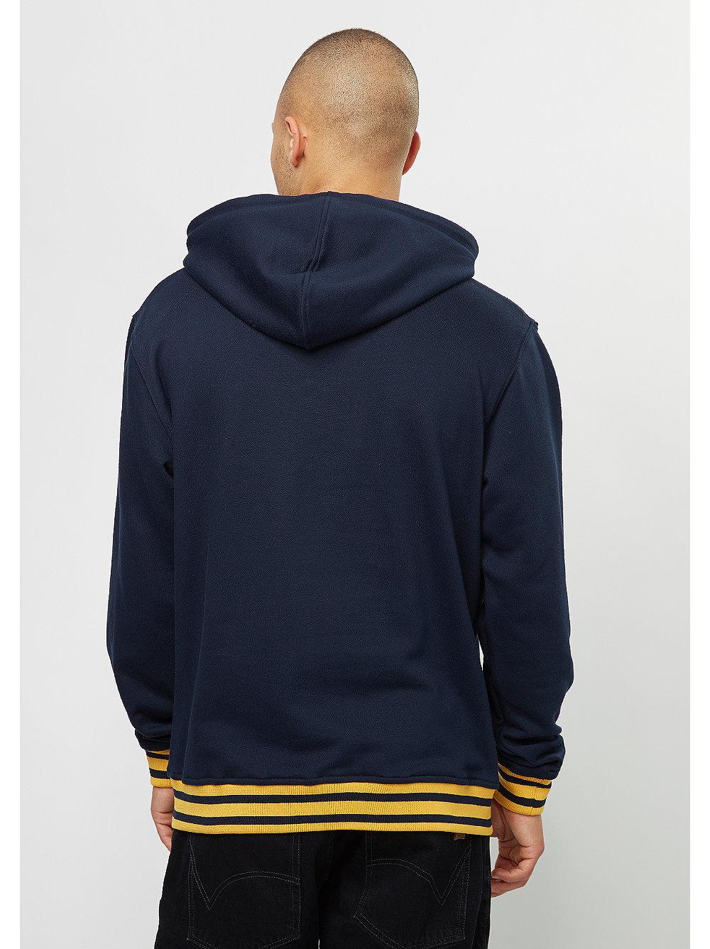 karl kani hooded sweatshirt basic blue snipes onlineshop. Black Bedroom Furniture Sets. Home Design Ideas
