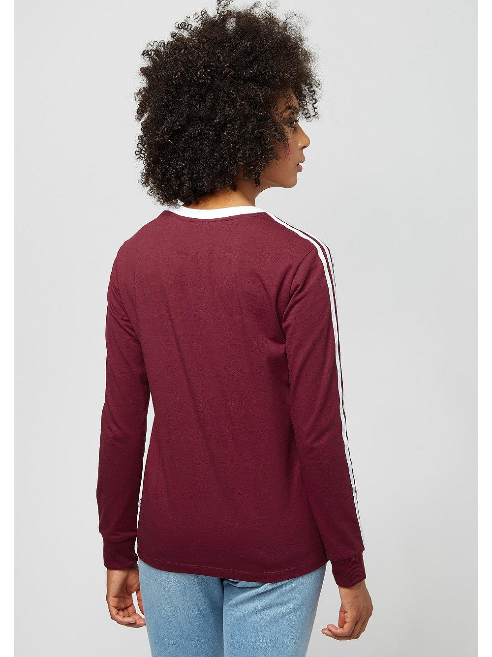 camiseta adidas 3 rayas burgundy