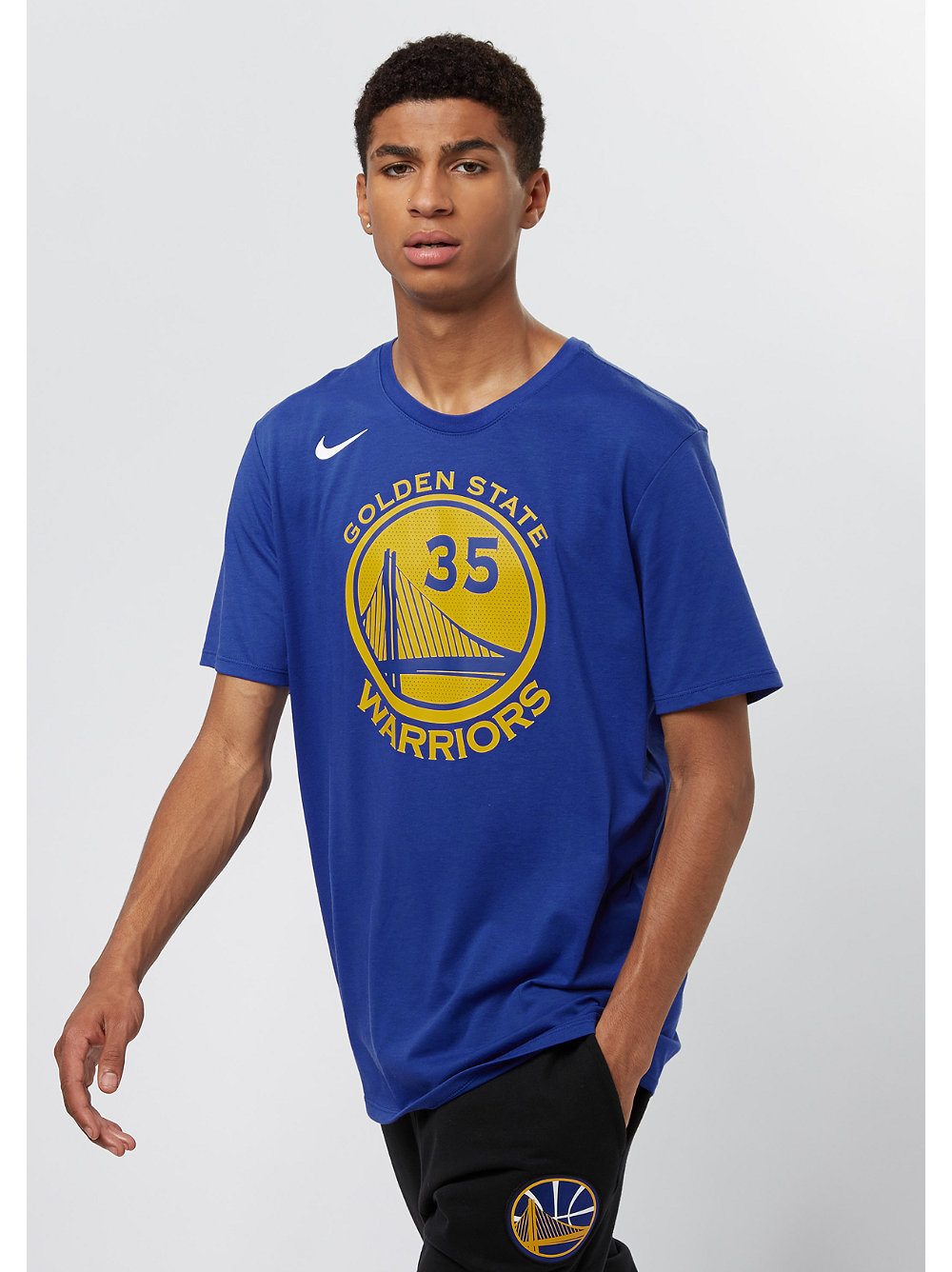 Nike t shirt nba golden state warriors durant snipes for Kevin durant golden state warriors t shirt