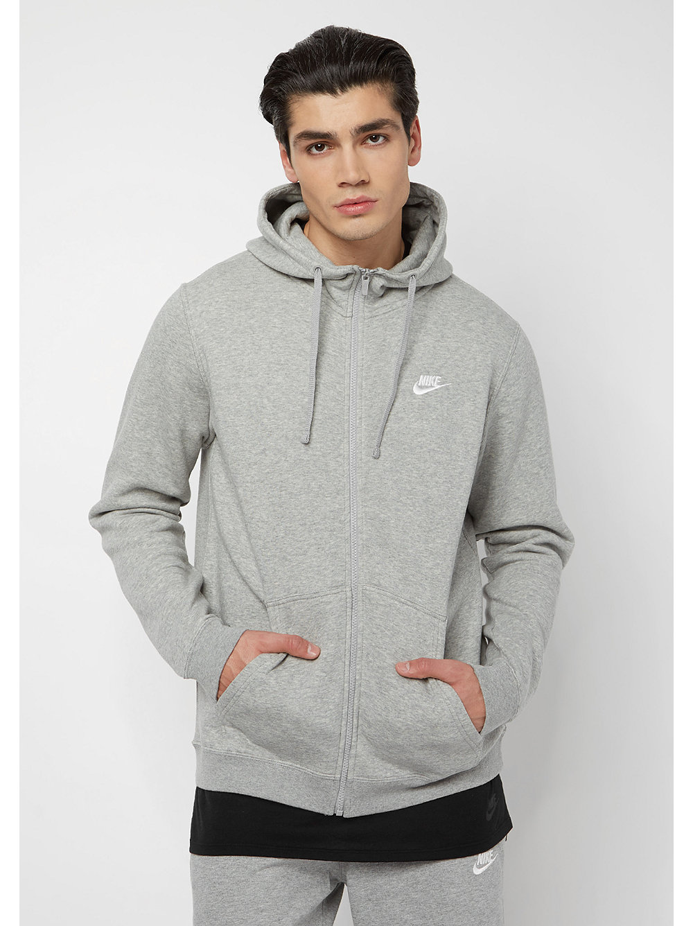 nike sportswear hoodie darkgrey heather dark grey heather. Black Bedroom Furniture Sets. Home Design Ideas