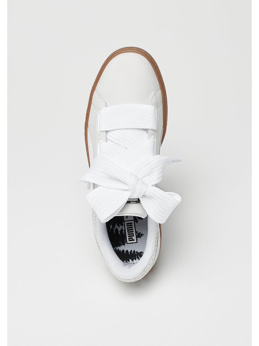 puma basket heart perf gum