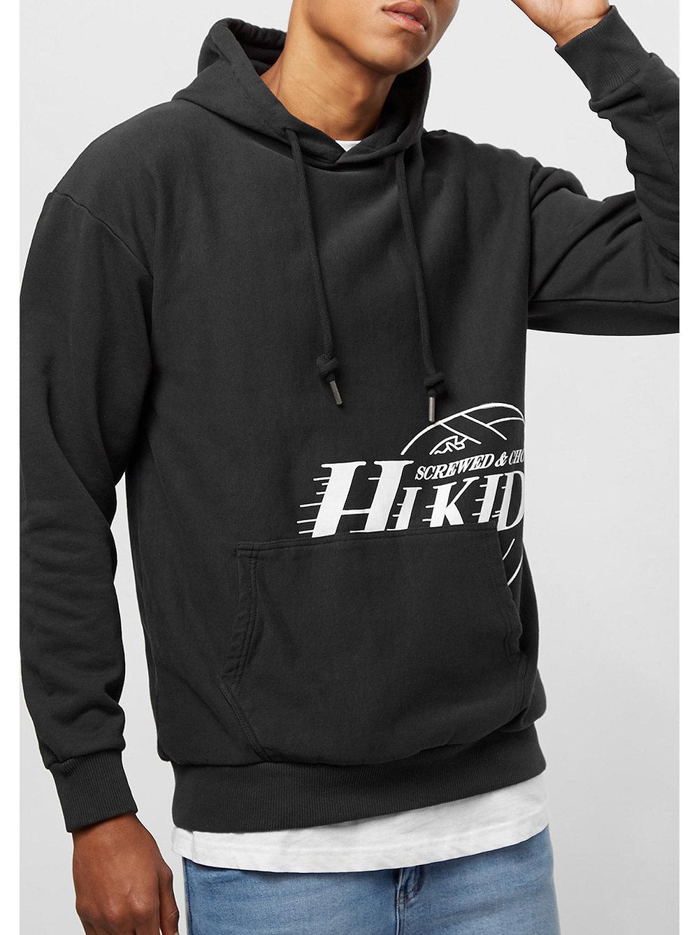 hikids team hoodie black snipes onlineshop. Black Bedroom Furniture Sets. Home Design Ideas