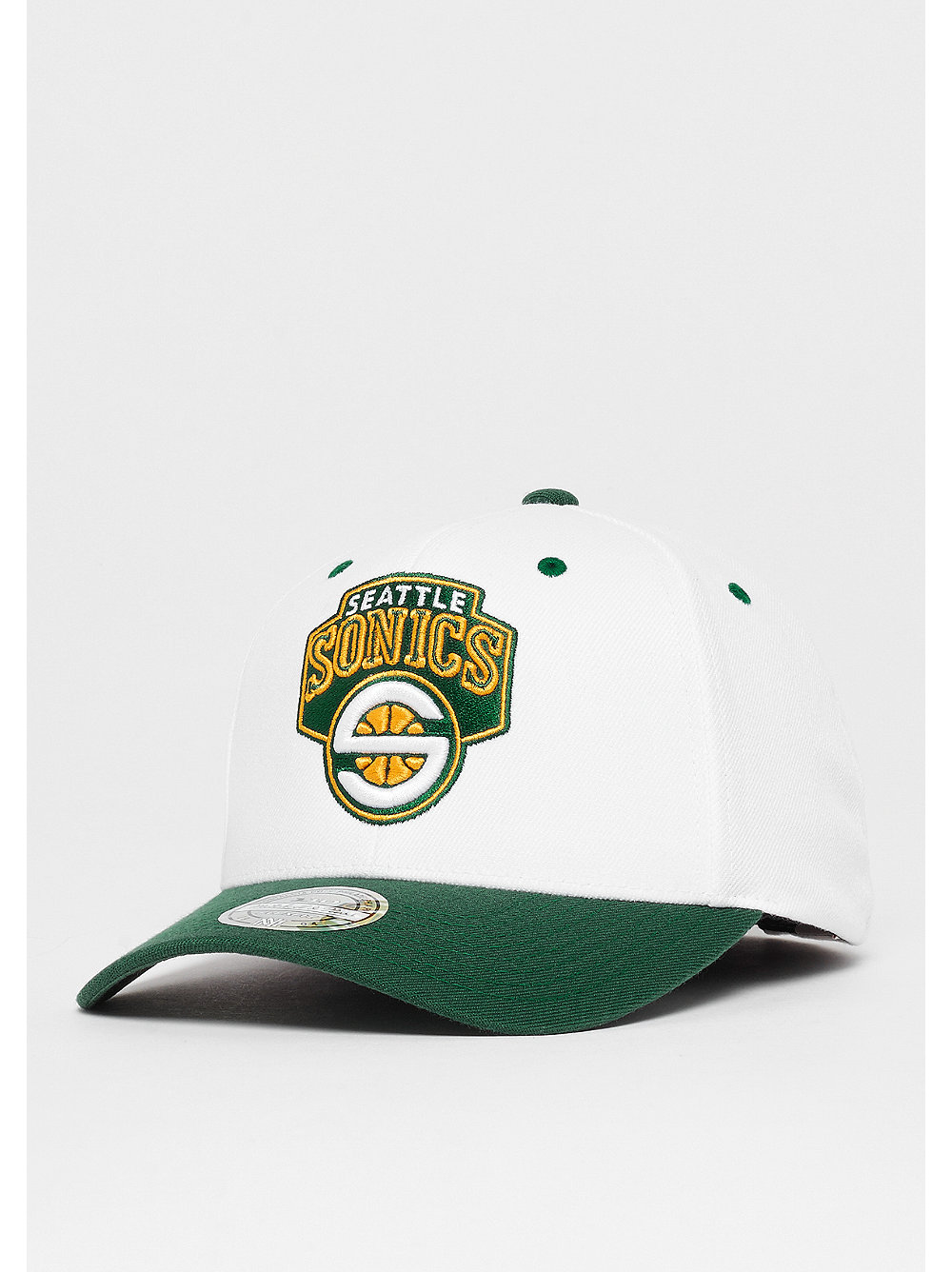 newest 0ba55 f77c7 Mitchell   Ness The White Crown Team Logo 110 NBA Seattle Supersonics white