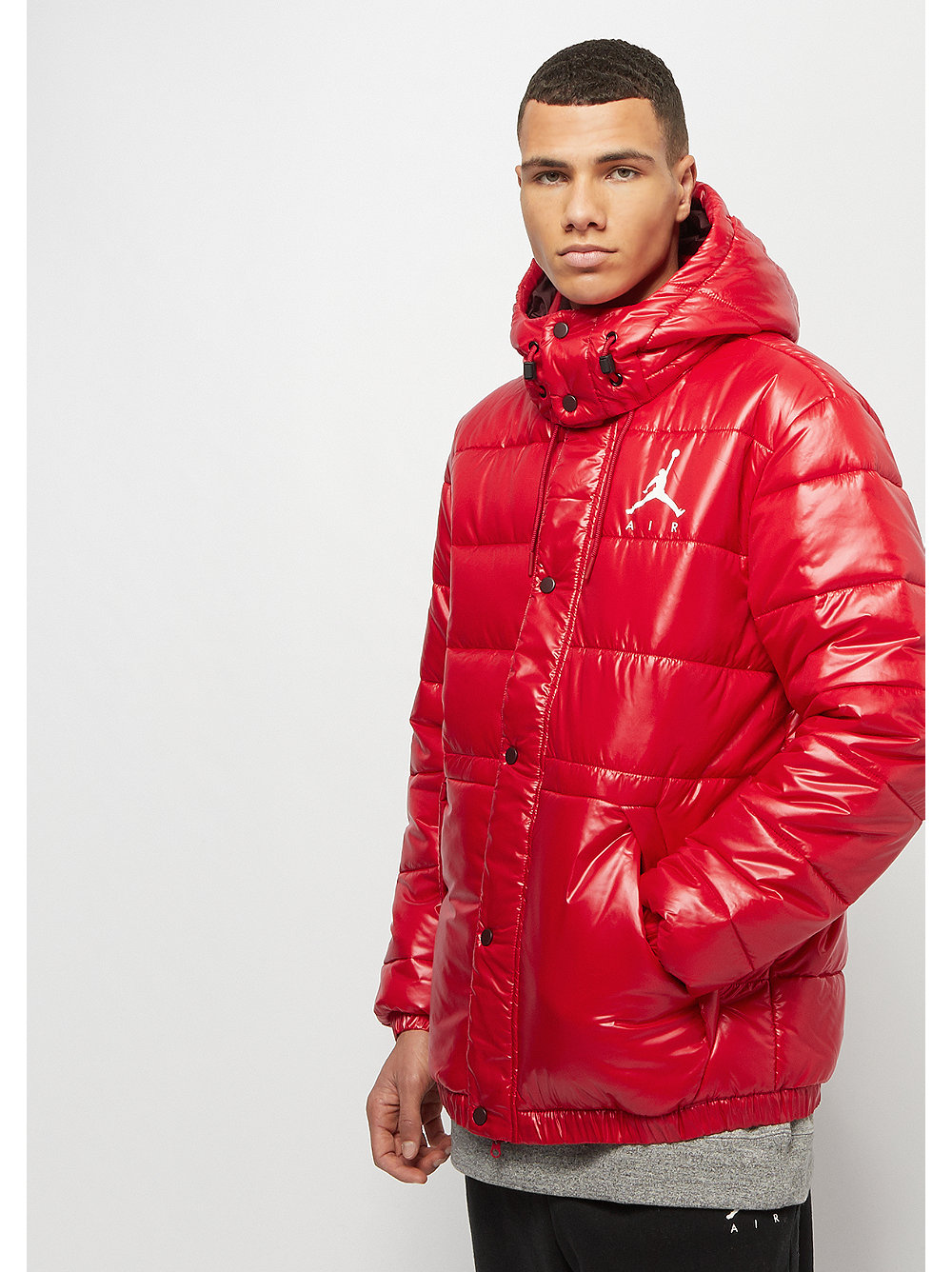 Gym Jumpman Jordan Burgundy Red Commander Puffer Crush White Jacket 5IqdwZ