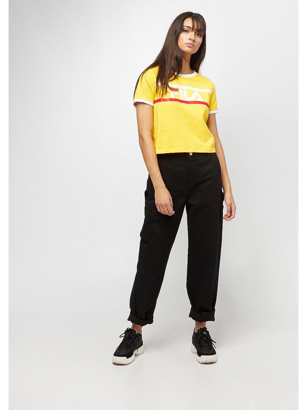 Fila Urban Line Ashley Cropped T Shirt Empire Yellow
