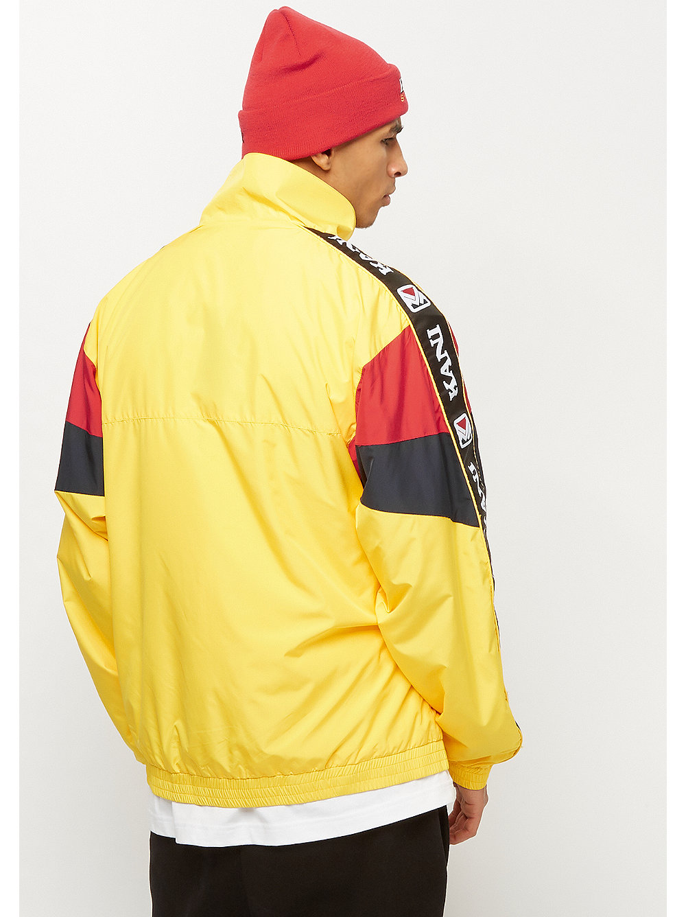 28d9cb33cfa16 Compra Karl Kani KK Retro Block Trackjacket yellow red navy Chaquetas de  entrenamiento en SNIPES