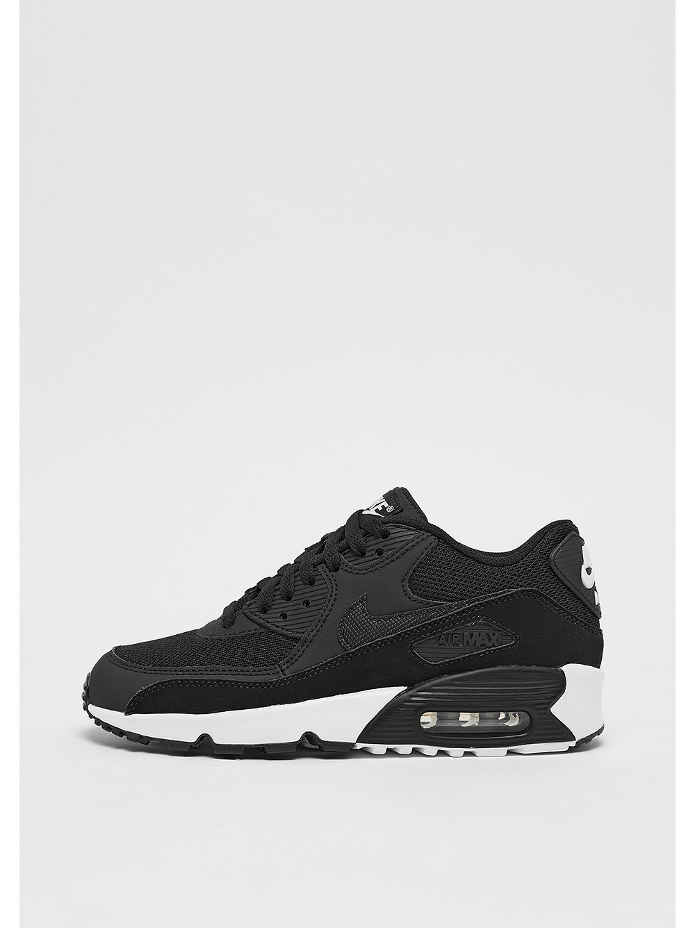 new product 606ef aaf3c NIKE Air Max 90 Mesh (GS) blackblackwhite