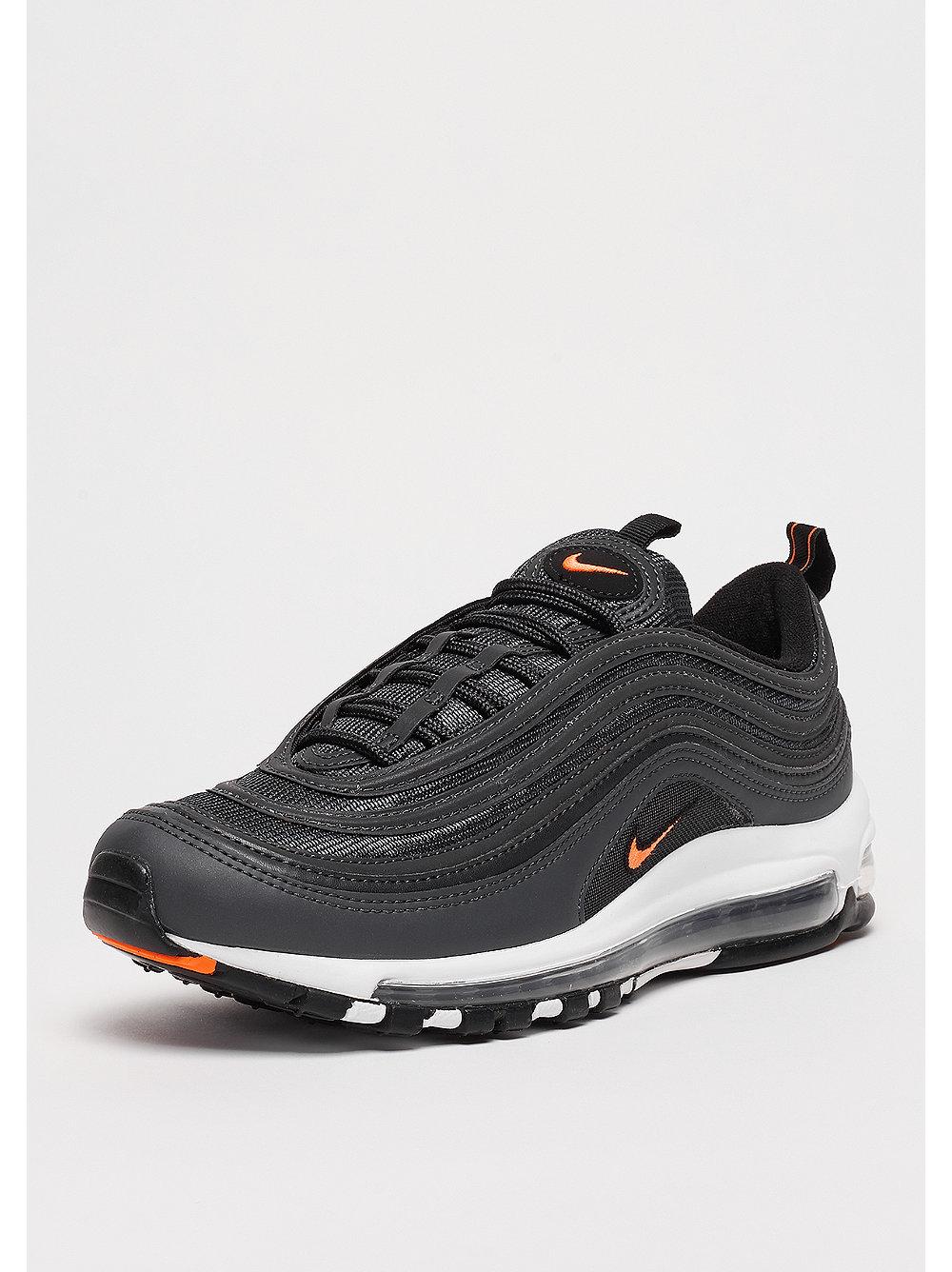 ... NIKE Air Max 97 anthracitetotal orangeblackwhite AUTHENTIC Nike Air Max  97 Black Orange ... 87704ac7d