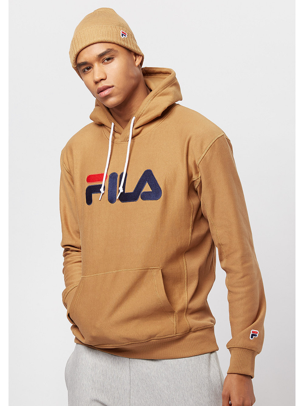 fila x snipes men hoody camel bei snipes bestellen. Black Bedroom Furniture Sets. Home Design Ideas