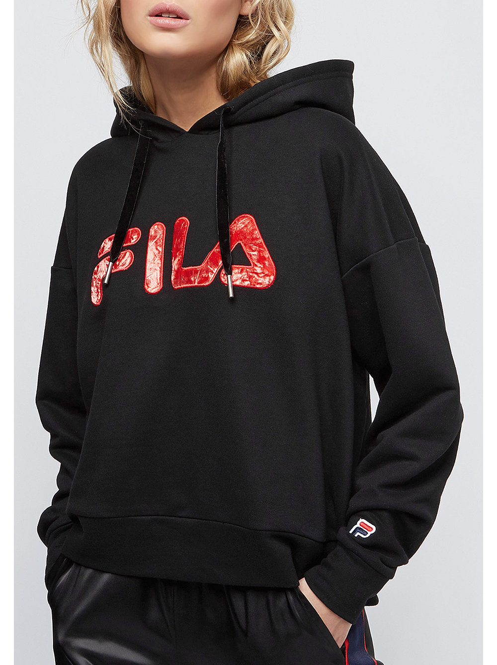 fila for snipes oversized hoodie black bei snipes bestellen. Black Bedroom Furniture Sets. Home Design Ideas