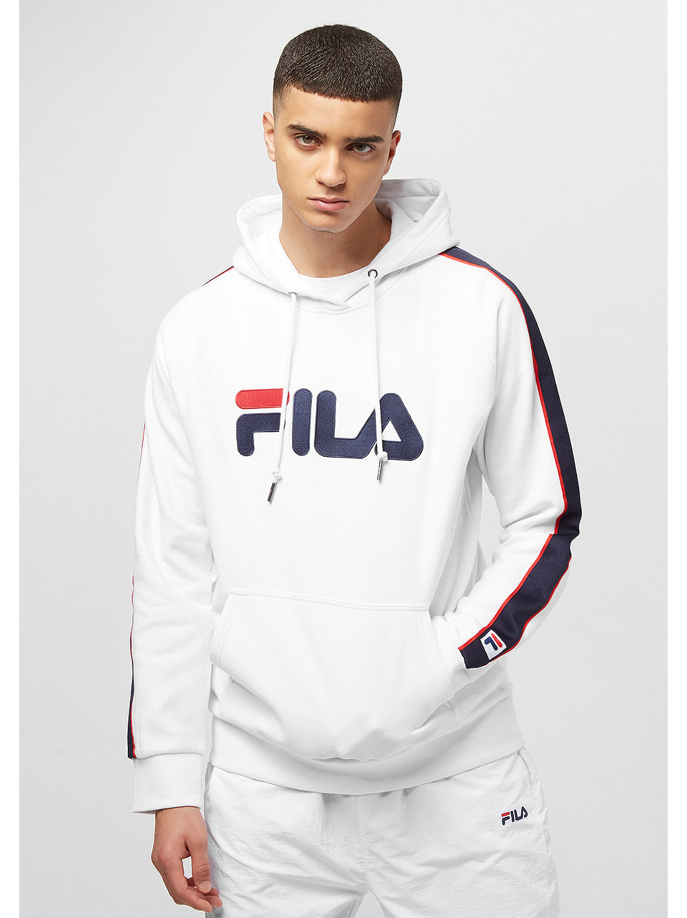 fila for snipes unisex hoodie white bei snipes bestellen. Black Bedroom Furniture Sets. Home Design Ideas