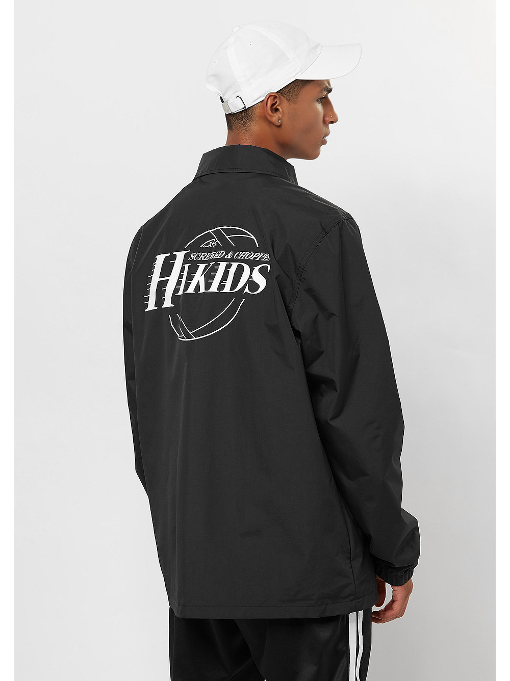 Schwarze coach jacket