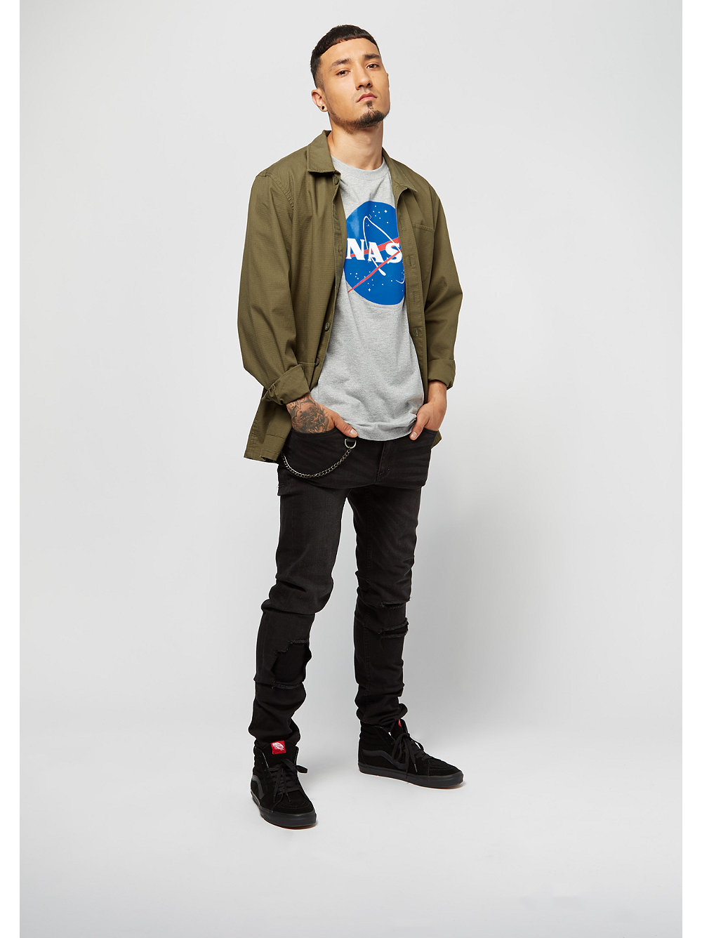 nasa heather t shirt von mister tee bei snipes kaufen. Black Bedroom Furniture Sets. Home Design Ideas
