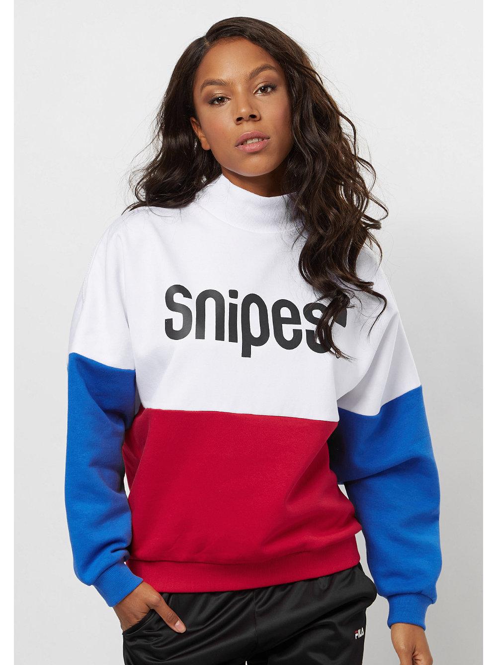 snipes block highneck sweater white red blue bei snipes. Black Bedroom Furniture Sets. Home Design Ideas