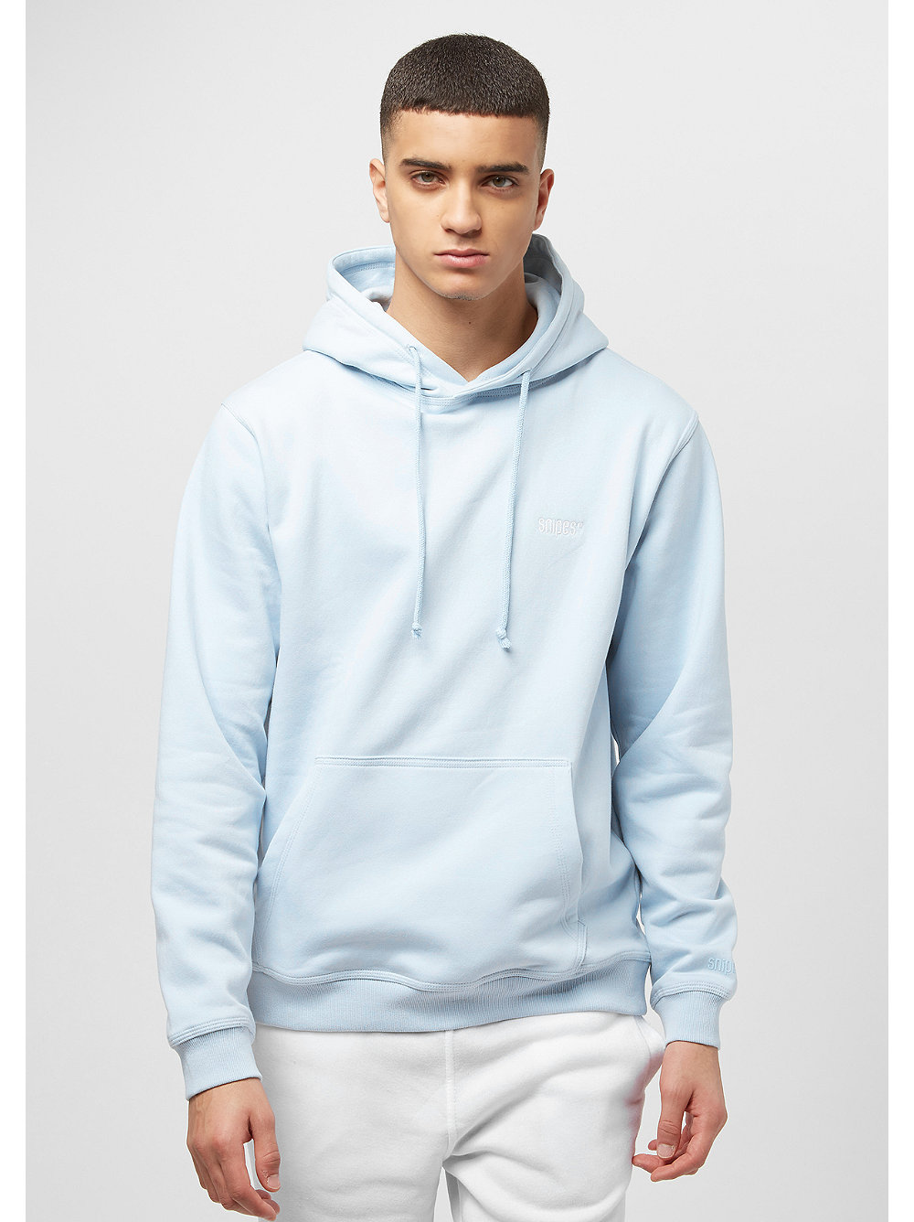 snipes chest logo hoodie blue im snipes onlineshop. Black Bedroom Furniture Sets. Home Design Ideas