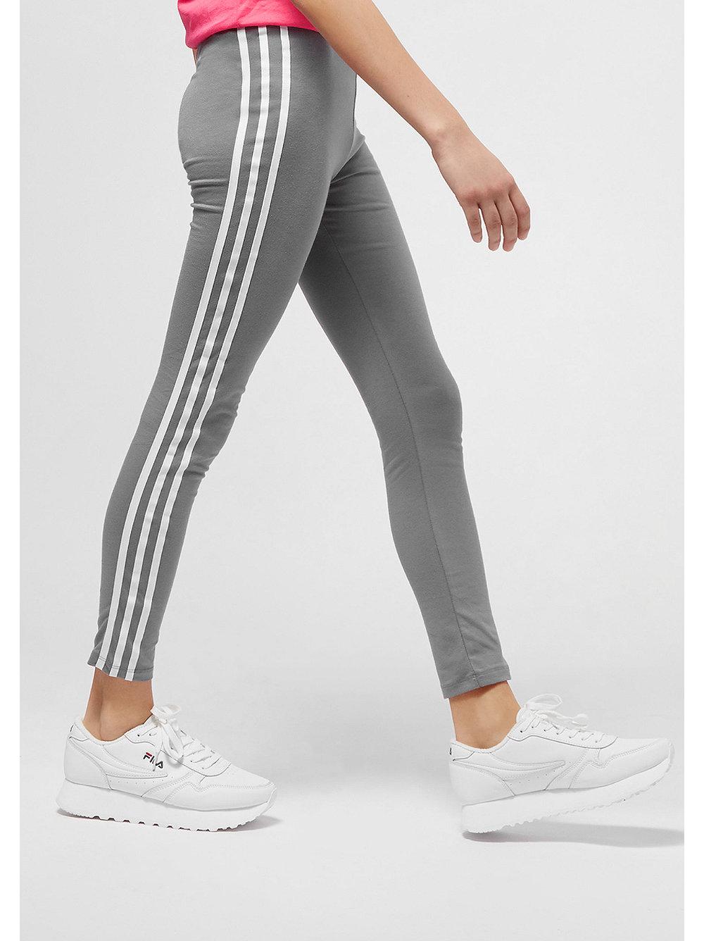 adidas kids 3 stripes leggings grau bei snipes bestellen. Black Bedroom Furniture Sets. Home Design Ideas