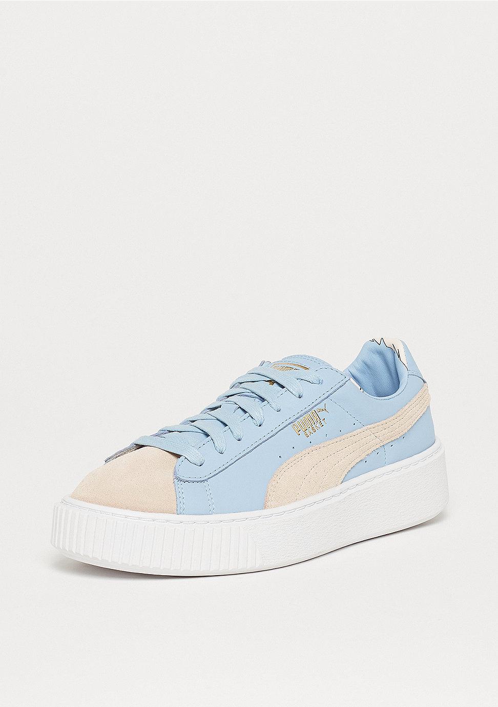 klassische Schuhe besserer Preis elegant im Stil Basket Platform Coach silver peony-cashmere blue
