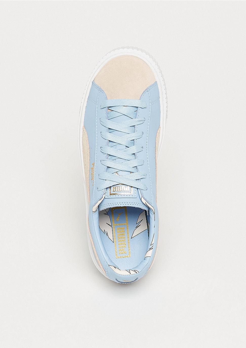 sports shoes fe48d e7556 Basket Platform Coach silver peony-cashmere blue