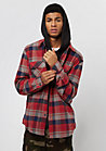 Bowery Flannel red/heather grey/navy