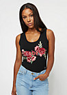 Embroidered Roses black