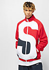 Block Trackjacket red/white/navy