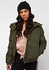 Hooded Puffer olive