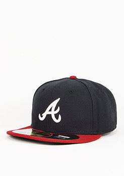 Fitted-Cap MLB Authentic Braves navy/red