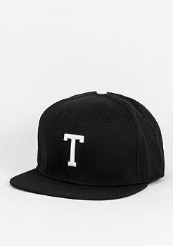 Snapback-Cap Letter T black