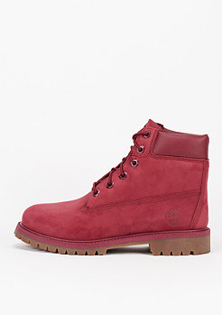 Timberland Kids 6-Inch Premium Waterproof red