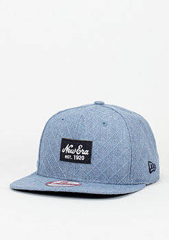 New Era Quilted Patch heather light blue/navy