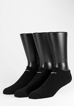 NIKE Chaussettes de sport Value No Show pack de 3 black/white