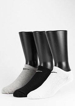 NIKE Chaussettes de sport Value No Show pack de 3 white/gris/black