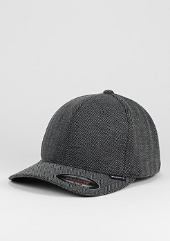 Flexfit Baseball-Cap Herringbone Melange black/grey