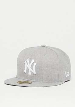 New Era Fitted-Cap 59Fifty Basic MLB New York Yankees heather gris
