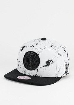Snapback-Cap Marble Logo NBA Brooklyn Nets white