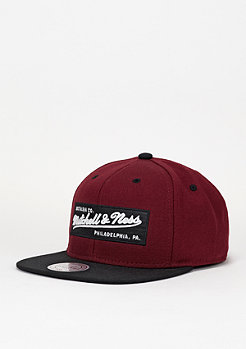 Mitchell & Ness Box Logo beet red/black
