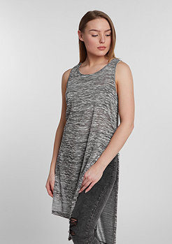 Tanktop Melange HiLo Long grey/white