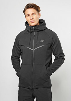 NIKE Übergangsjacke Tech Fleece Windrunner Hoodie black/black