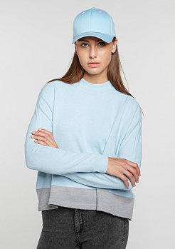 Sweatshirt Knit Turtleneck light blue