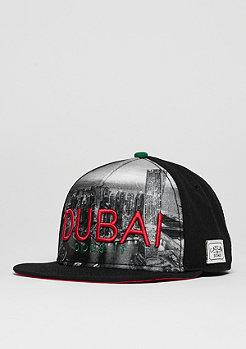 Snapback-Cap WL Dubai Skyline black/red/green