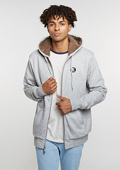 Hooded-Zipper E Base Sherpa grey/heather