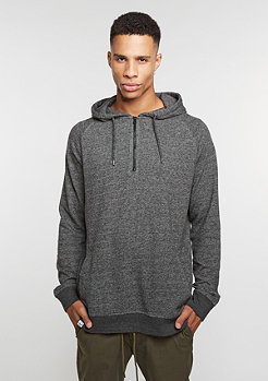 Hooded-Sweatshirt Quarter Zip Hoody anthracite grey