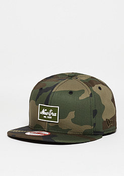 New Era Snapback-Cap Patched Tone woodland camo/camel