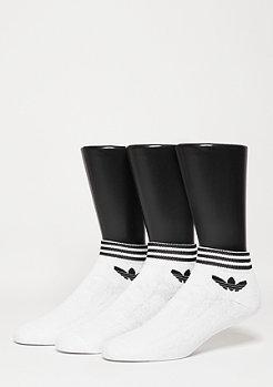 adidas Chaussettes de sport trèfle Ankle Stripes 3PP white/black