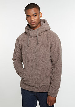 Hooded-Sweatshirt Sherpa High Neck taupe
