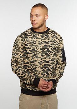 Sweatshirt Sweat Camo Bomber wood camo
