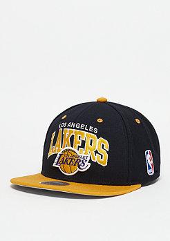 Mitchell & Ness Snapback-Cap Team Arch NBA Los Angeles Lakers black/yellow