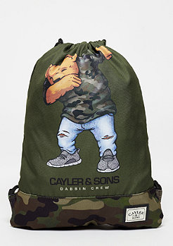 Cayler & Sons C&S Gymbag Dabbin Crew olive/woodland/multi