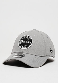 New Era Baseball-Cap Emblem Stretch MLB New York Yankees grey/black